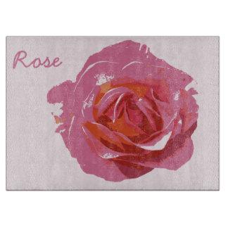 Planches à découper en verre Rose