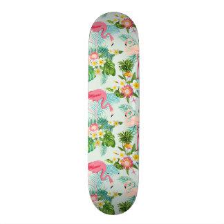 Planches À Roulettes Customisées Fleurs tropicales vintages et oiseaux