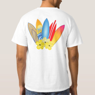 Planches de surf et ketmie t-shirt