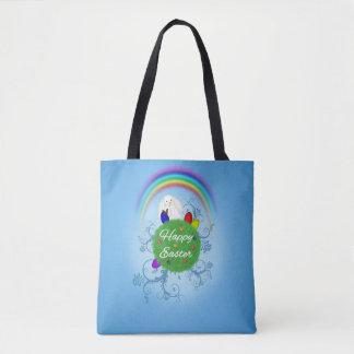 Planète colorée heureuse de Pâques - sac