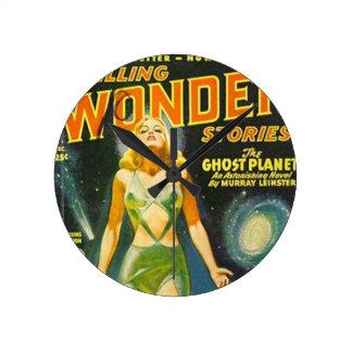 Planète de fantôme horloge ronde