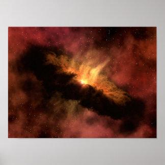 Planète infrarouge de la NASA formant le disque Poster