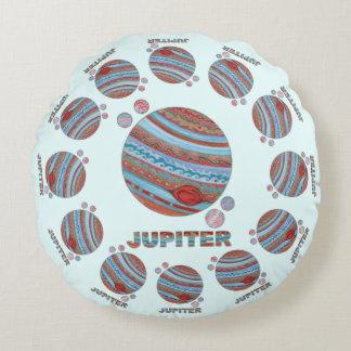 Planète Jupiter de Z et geek coloré de l'espace de Coussins Ronds