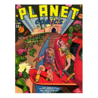 Planète perdue carte postale