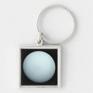 Planète Uranus Porte-clé Carré Argenté