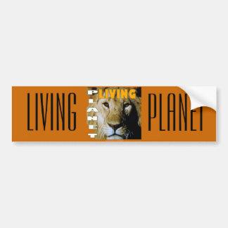 Planète vivante de lion qui respecte autocollant pour voiture