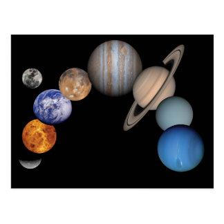 Planètes du système solaire carte postale