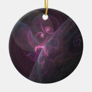 Planètes fractal ornement rond en céramique