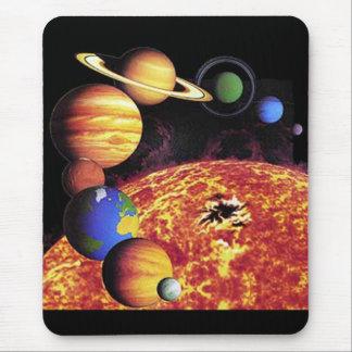 Planètes Mousepad de système solaire Tapis De Souris