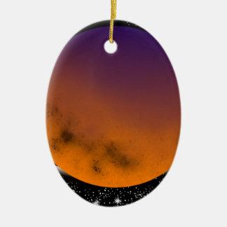 planets ornement ovale en céramique