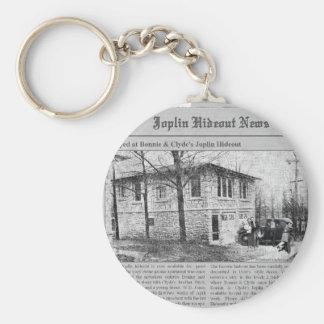 Planque mignonne et de Clyde de Joplin Porte-clé Rond
