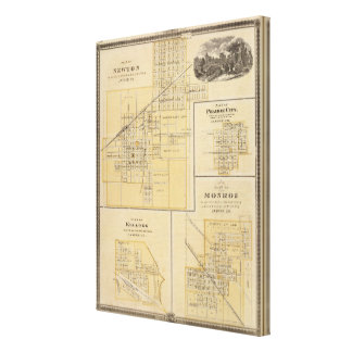 Plans de Newton, ville de prairie Toiles