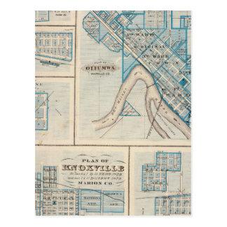 Plans d'Ottumwa, Russell, Scranton Cartes Postales