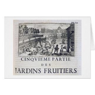 Plantant les arbres fruitiers, de 'Le Parfait Jard Carte De Vœux