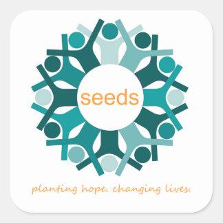 Plantation de l'espoir. Les vies changeantes Sticker Carré