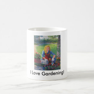 Plantation des fleurs mug