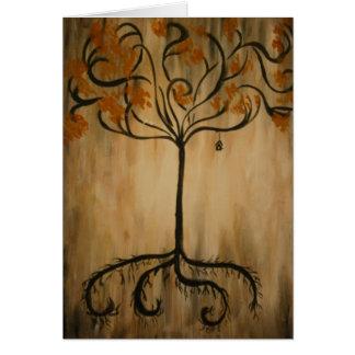 Plantation des racines carte de vœux