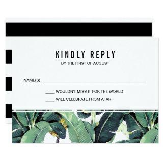 Plantation tropicale épousant des cartes de carton d'invitation 8,89 cm x 12,70 cm