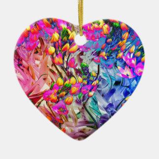 plante dynamique ornement cœur en céramique