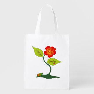 Plante et fleur sac réutilisable d'épcierie