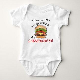 Plante grimpante de cheeseburger de bébé body