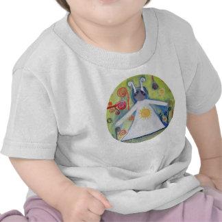 Plante grimpante organique infantile d'étreinte de t-shirts
