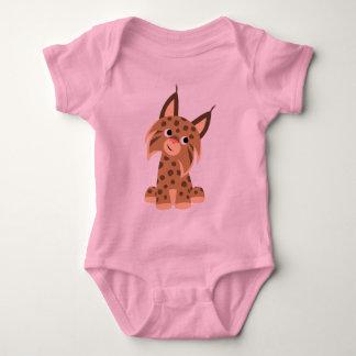 Plante grimpante Prankish de bébé de Lynx de bande T-shirts