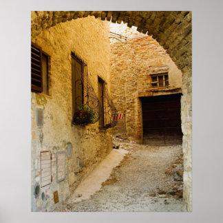 Plantes dans des boîtes de fenêtre, San Gimignano, Posters