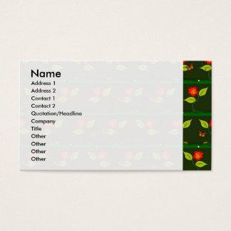 Plantes et fleurs cartes de visite