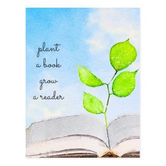 Plantez une carte postale de livre