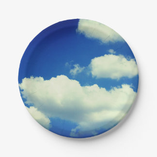 Plaque à papier de ciel assiettes en papier