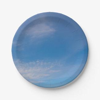 Plaque à papier de cieux bleus assiettes en papier