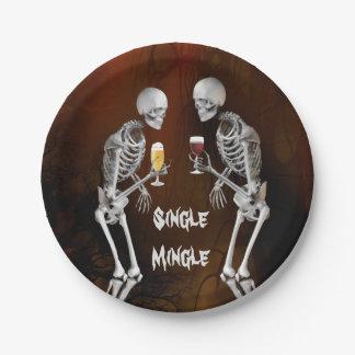 Plaque à papier de cocktail drôle de squelettes assiettes en papier