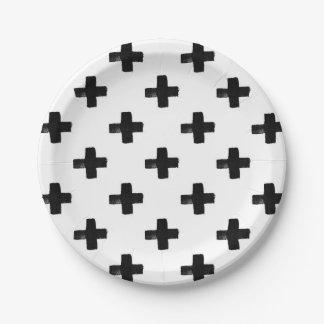 Plaque à papier de croix originales assiettes en papier