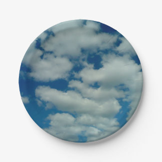 Plaque à papier de nuage assiettes en papier