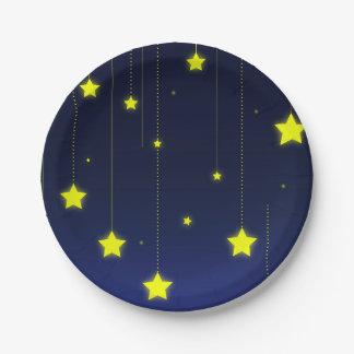 Plaque à papier de nuit étoilée assiettes en papier