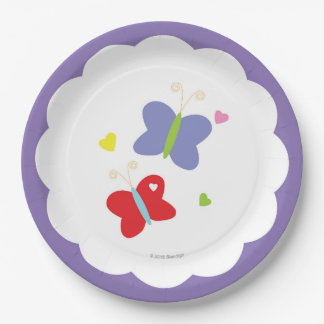 Plaque à papier de papillons assiettes en papier