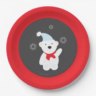 Plaque à papier du pays des merveilles d'hiver assiettes en papier