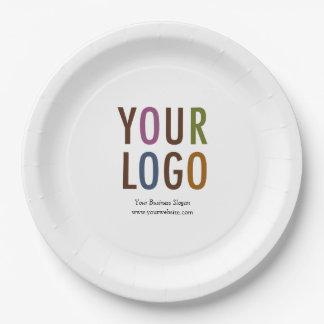 """Plaque à papier faite sur commande 9"""" avec le logo assiettes en papier"""