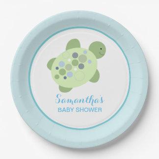 Plaque à papier faite sur commande de tortue de assiette en papier 22,8 cm