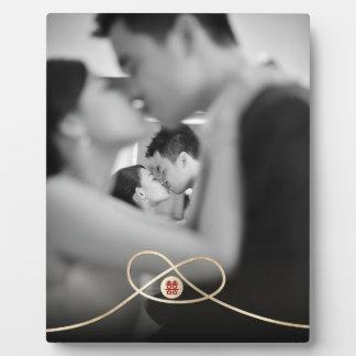 Plaque chinoise de photo de mariage de double photo sur plaque