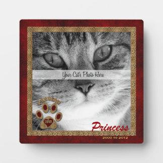 Plaque commémorative de photo de chat persan plaque d'affichage
