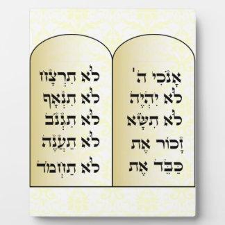 Plaque de Dix commandements Photos Sur Plaques