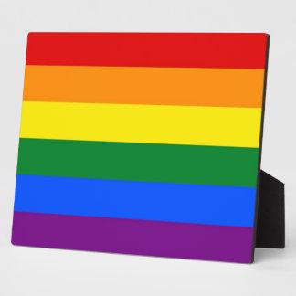 Plaque de drapeau de fierté de l'arc-en-ciel LGBT