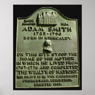 plaque de forgeron d Adam Poster