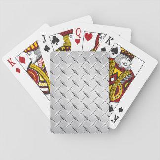 Plaque de métal de diamant jeu de cartes