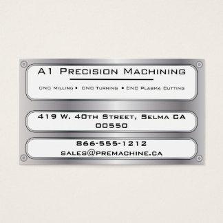 Plaque de métal et rivets - argent cartes de visite