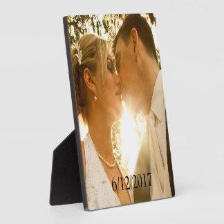 Plaque de photo de mariage