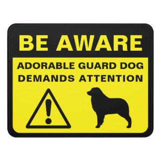 Plaque De Porte Avertissement australien de chien de garde de