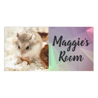 Plaque De Porte Hammyville - hamster mignon